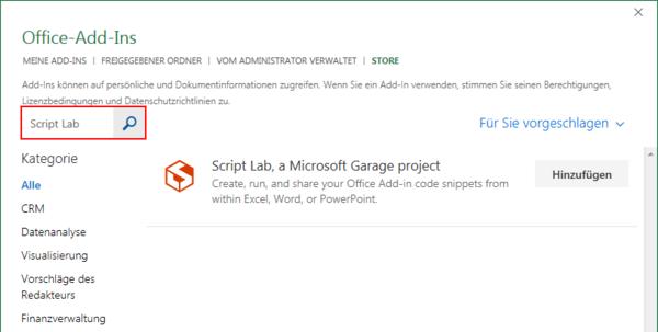 Script Lab installieren