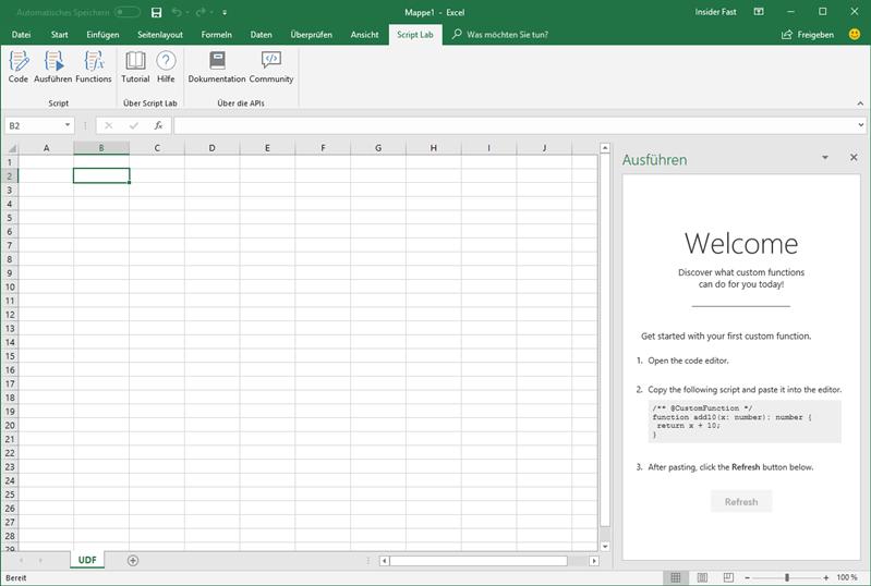 Einführung zu den Excel JavaScript-Funktionen