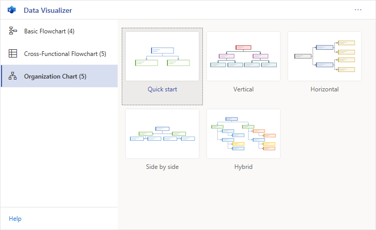 Visio Data Visualizer Start