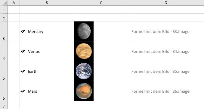 Bild in Excel-Zelle über Datentypen