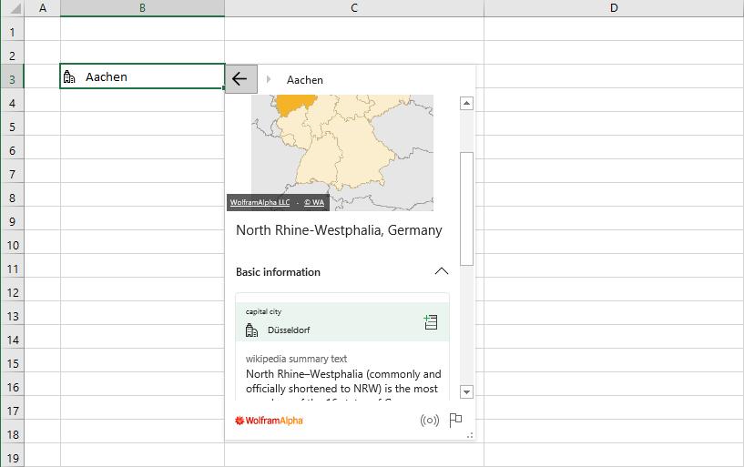 Hierarchie im Wolfram-Datentyp für Orte