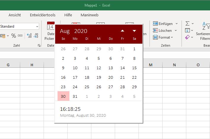 Date-Picker für Excel
