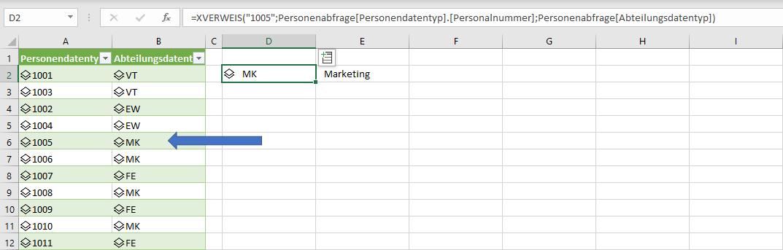 Power Datentyp als Formelergebnis