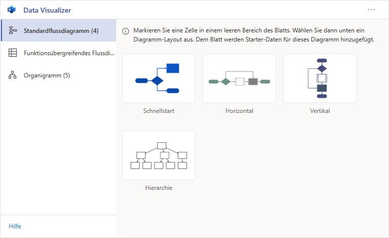Visio Data Analyzer Add-In in Deutsch