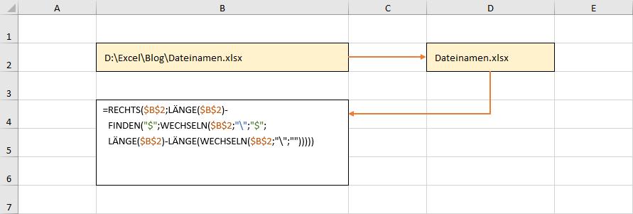 Ermittlung des Dateinamens ohne dynamische Arrays