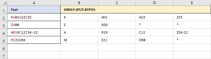ARRAY.SPLIT.BYPOS
