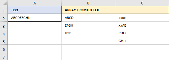 ARRAY.FROMTEXT.EX