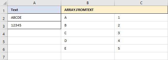 ARRAY.FROMTEXT