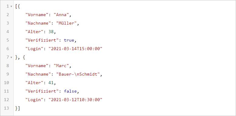 JSON.FROMRANGE - Zellbereich in Excel als JSON