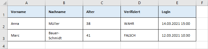 JSON.FROMRANGE - Zellbereich in Excel