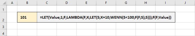LAMBDA-Funktionen als Variable rekursiv verwenden